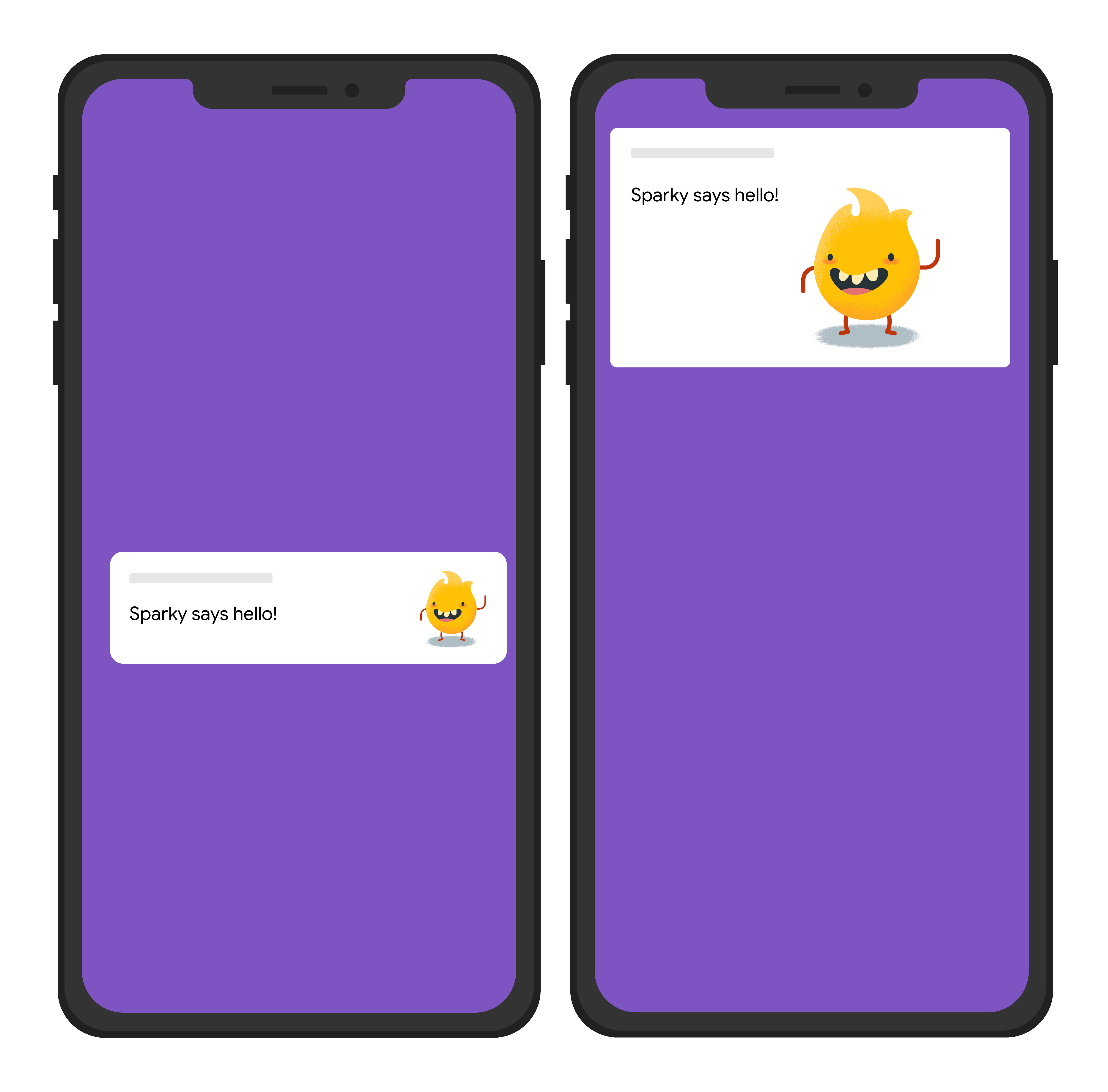 Ilustrasi sederhana dari gambar dalam notifikasi tampilan