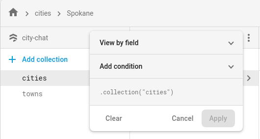 Haz clic en el botón Filtrar lista para filtrar los documentos de la lista.