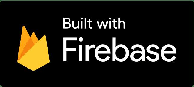 Built with Firebase Dark logo