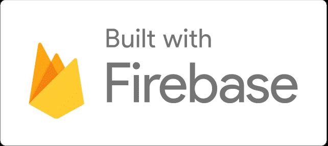 Built with Firebase 浅色徽标