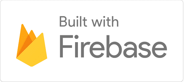 Built with Firebase 浅色徽标