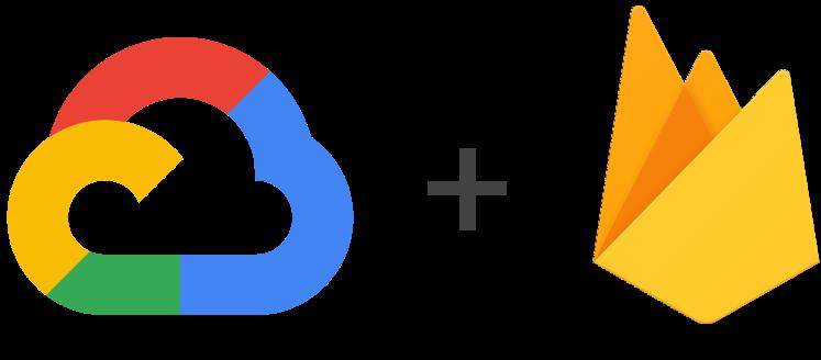 Logotipos do Google Cloud Platform e do Firebase
