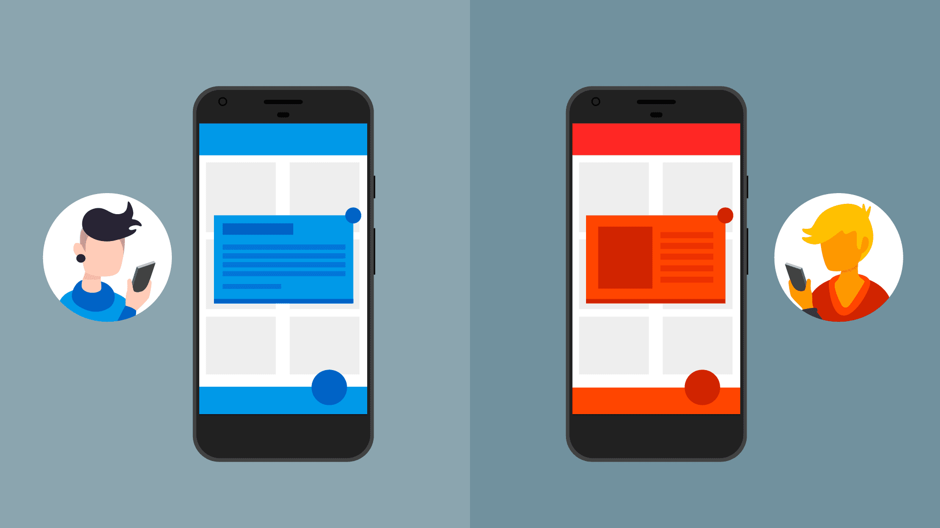 Two in-app messages with different styles