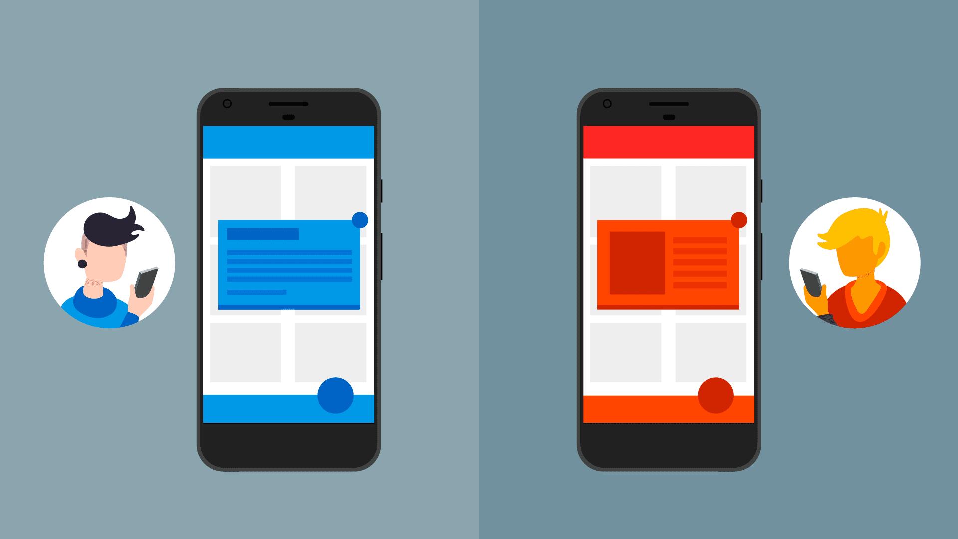 Zwei In-App-Nachrichten mit unterschiedlichen Stilen