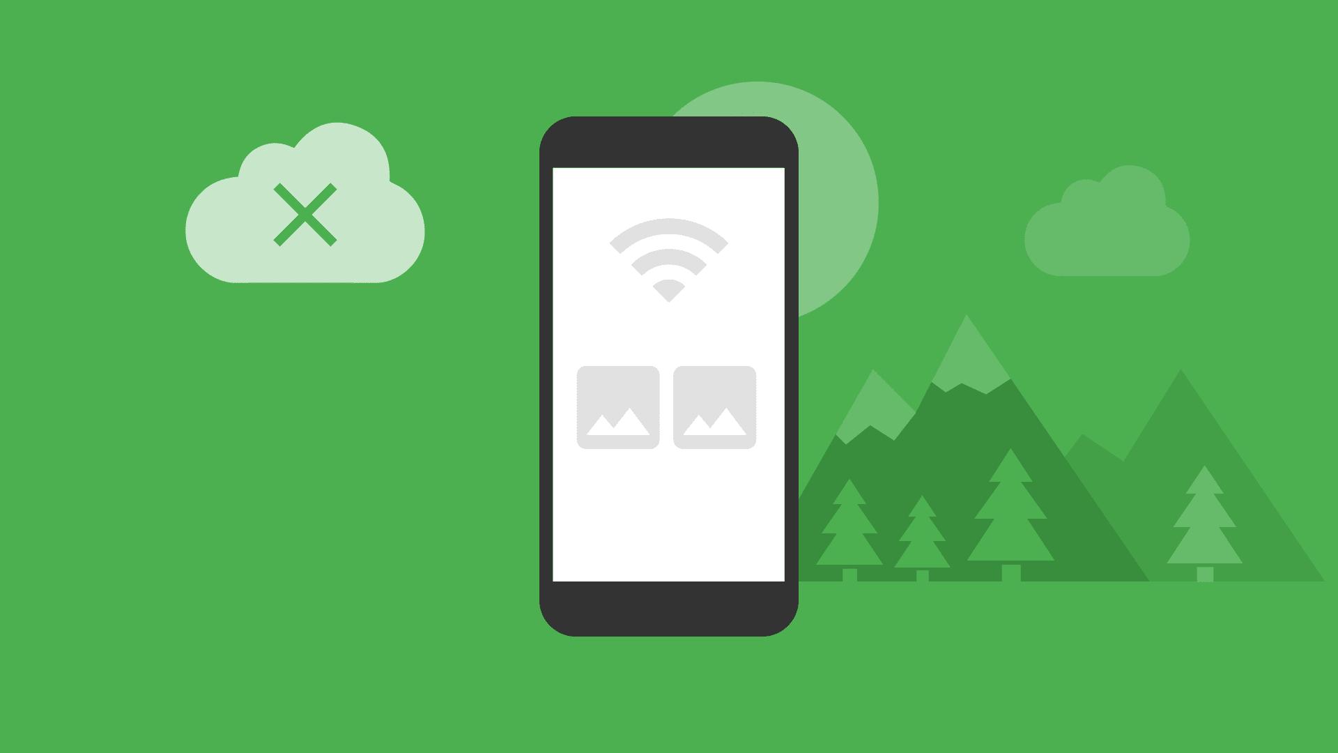 Layar ponsel menampilkan status offline
