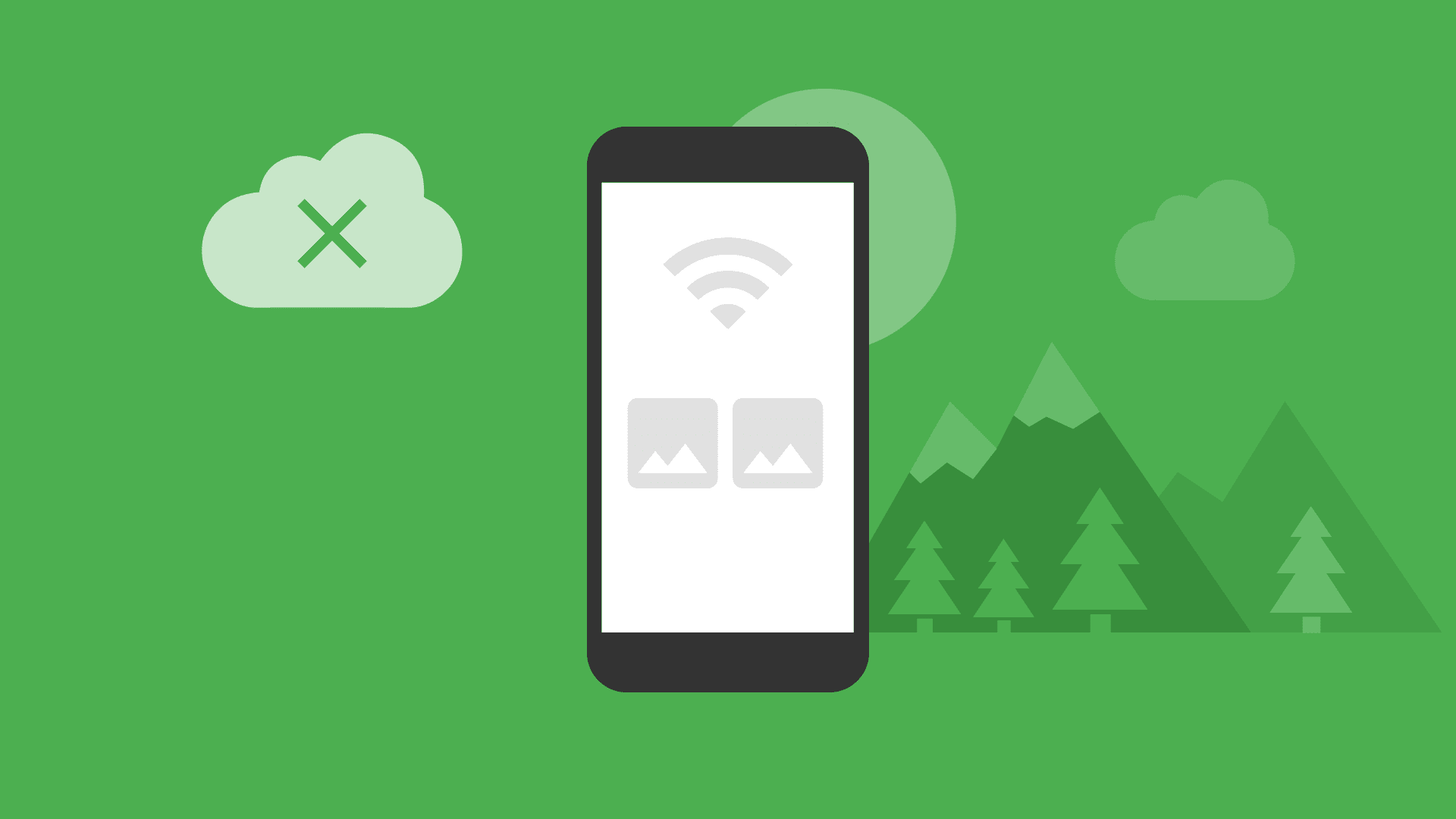 Ekran telefonu pokazujący stan offline